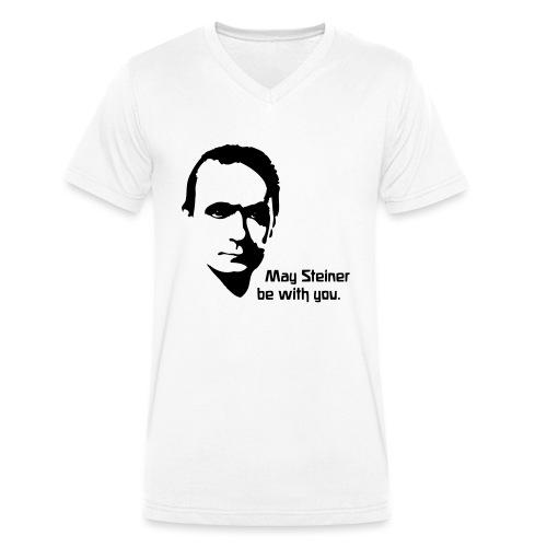 May Steiner be with you - Männer Bio-T-Shirt mit V-Ausschnitt von Stanley & Stella