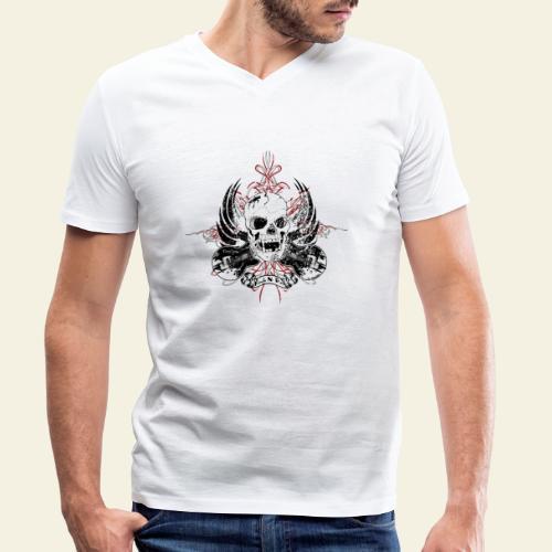 Grunge Rock N' Roll Skull - Økologisk Stanley & Stella T-shirt med V-udskæring til herrer