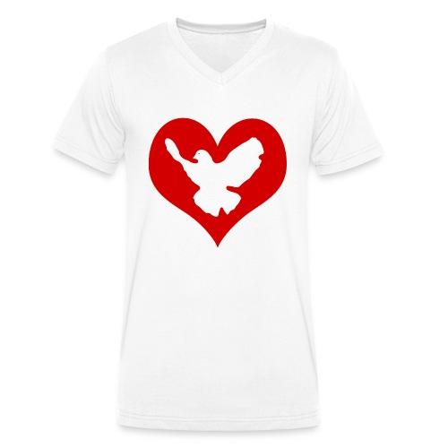 Peace & Love - Männer Bio-T-Shirt mit V-Ausschnitt von Stanley & Stella