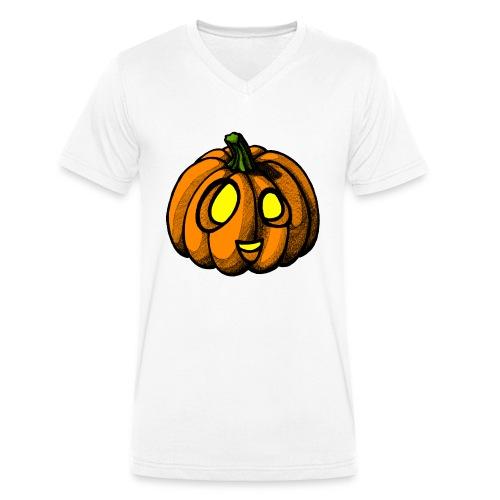 Pumpkin Halloween scribblesirii - Men's Organic V-Neck T-Shirt by Stanley & Stella