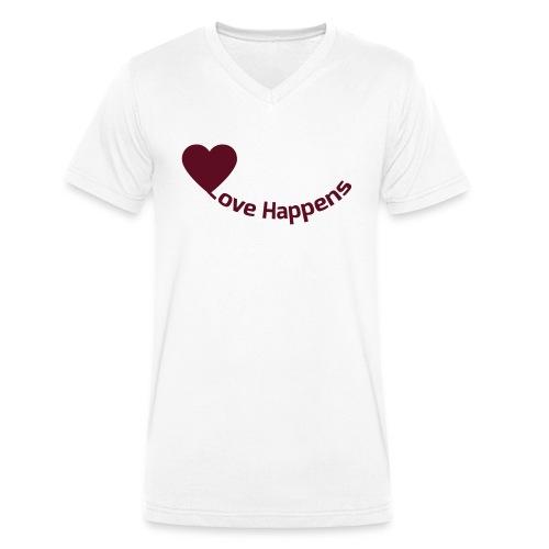 Love-Happens - Men's Organic V-Neck T-Shirt by Stanley & Stella