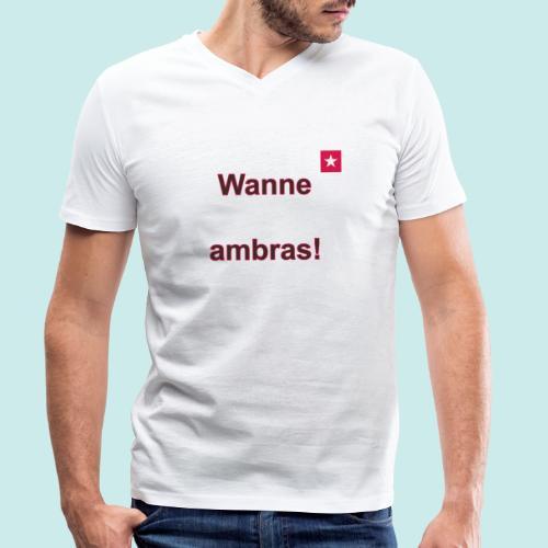 Wanne ambras verti mr def b - Mannen bio T-shirt met V-hals van Stanley & Stella