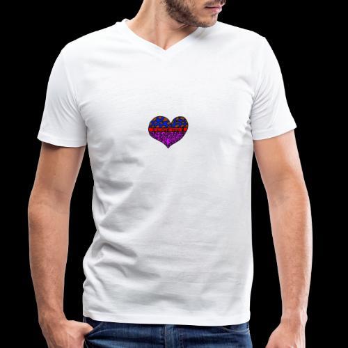 Herz Leben Welt Love you - Männer Bio-T-Shirt mit V-Ausschnitt von Stanley & Stella