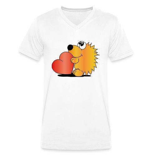 Igelchen - Männer Bio-T-Shirt mit V-Ausschnitt von Stanley & Stella