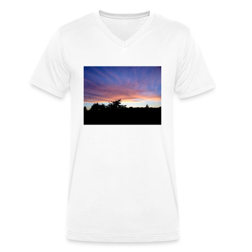 Sunset - Økologisk Stanley & Stella T-shirt med V-udskæring til herrer