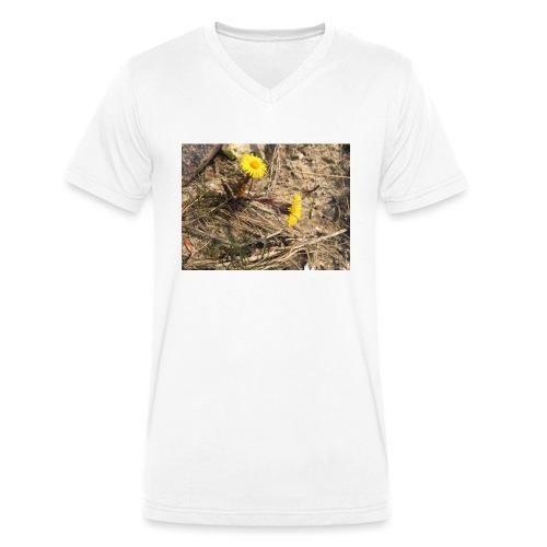 The Flower Shirt - Følfod - Økologisk Stanley & Stella T-shirt med V-udskæring til herrer