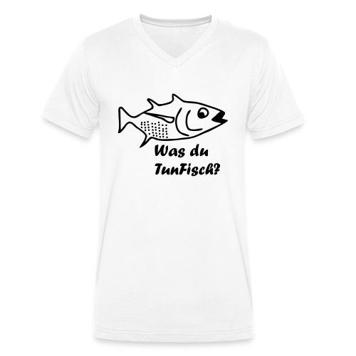 Was du tun Fisch? - Männer Bio-T-Shirt mit V-Ausschnitt von Stanley & Stella