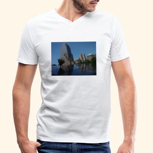Rosa del ricordo - T-shirt ecologica da uomo con scollo a V di Stanley & Stella