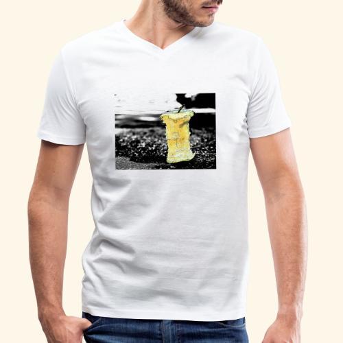 Ex mela - T-shirt ecologica da uomo con scollo a V di Stanley & Stella