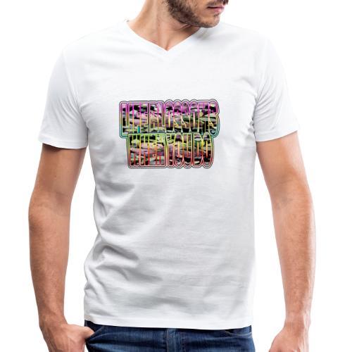 life blossoms when you do - Männer Bio-T-Shirt mit V-Ausschnitt von Stanley & Stella