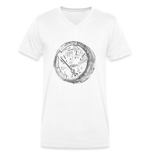 Vintage Manometer - Männer Bio-T-Shirt mit V-Ausschnitt von Stanley & Stella