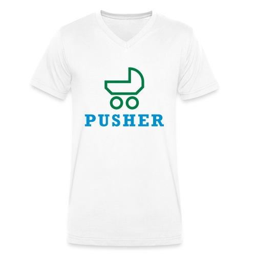 pusher_T-Shirt - Männer Bio-T-Shirt mit V-Ausschnitt von Stanley & Stella