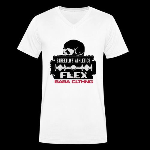 flex klinge - Männer Bio-T-Shirt mit V-Ausschnitt von Stanley & Stella