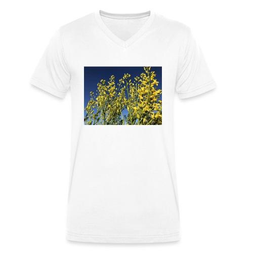 Green Cabbage in the Sky - Økologisk Stanley & Stella T-shirt med V-udskæring til herrer