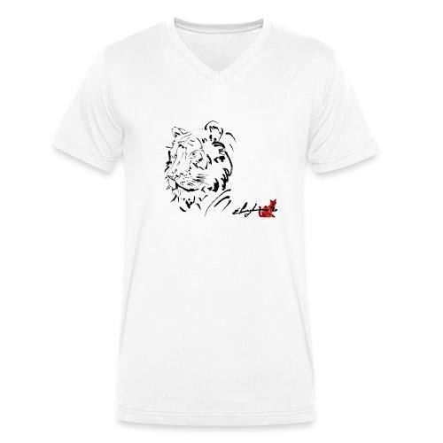 TIGRE - T-shirt ecologica da uomo con scollo a V di Stanley & Stella