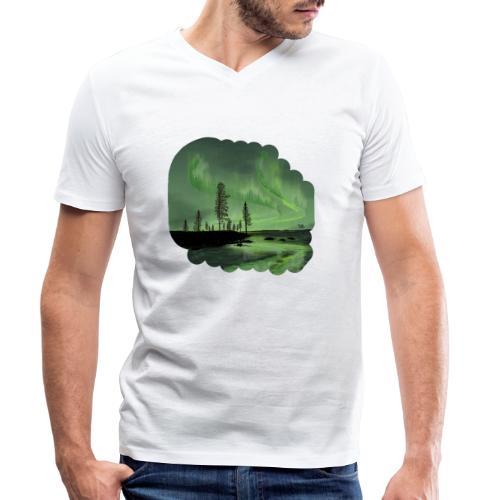 Noorderlicht reflectie - T-shirt bio col V Stanley & Stella Homme