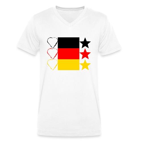 Liebe Deine Stars - Männer Bio-T-Shirt mit V-Ausschnitt von Stanley & Stella