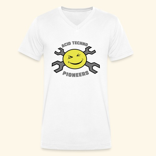 ACID TECHNO PIONEERS - SILVER EDITION - Men's Organic V-Neck T-Shirt by Stanley & Stella