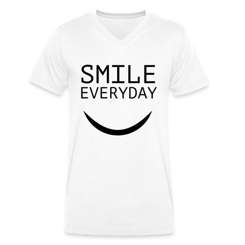 smile everyday - Männer Bio-T-Shirt mit V-Ausschnitt von Stanley & Stella