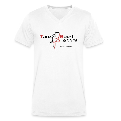 Logo OTSV V1 Internet gif - Männer Bio-T-Shirt mit V-Ausschnitt von Stanley & Stella