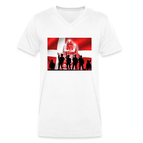 Holger Danske - Økologisk Stanley & Stella T-shirt med V-udskæring til herrer