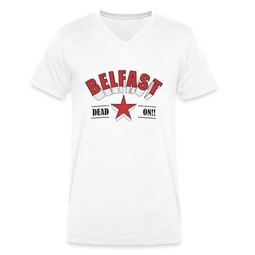 Belfast - Dead On!! - Men's Organic V-Neck T-Shirt by Stanley & Stella