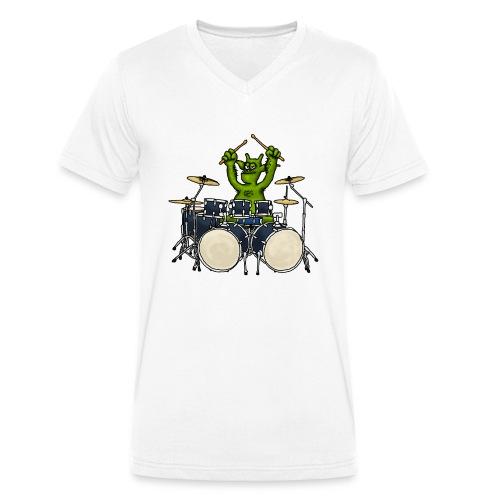 Kobold Drummer - Men's Organic V-Neck T-Shirt by Stanley & Stella