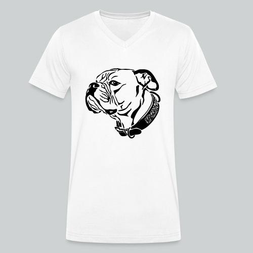 Das Motiv die Geschichte - Männer Bio-T-Shirt mit V-Ausschnitt von Stanley & Stella