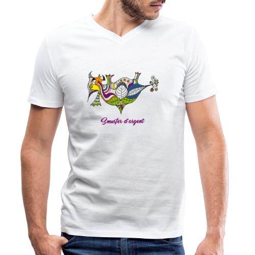 Smurfer d'argent - T-shirt bio col V Stanley & Stella Homme