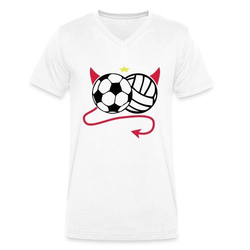 Männer Shirt Cup - Männer Bio-T-Shirt mit V-Ausschnitt von Stanley & Stella
