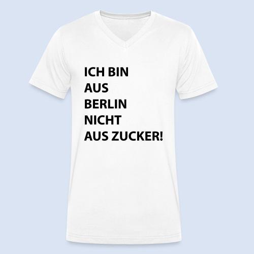 Ich bin aus Berlin #Stadtgeschenke - Männer Bio-T-Shirt mit V-Ausschnitt von Stanley & Stella