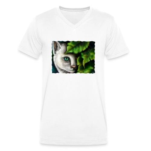Gatto Shiva - T-shirt ecologica da uomo con scollo a V di Stanley & Stella