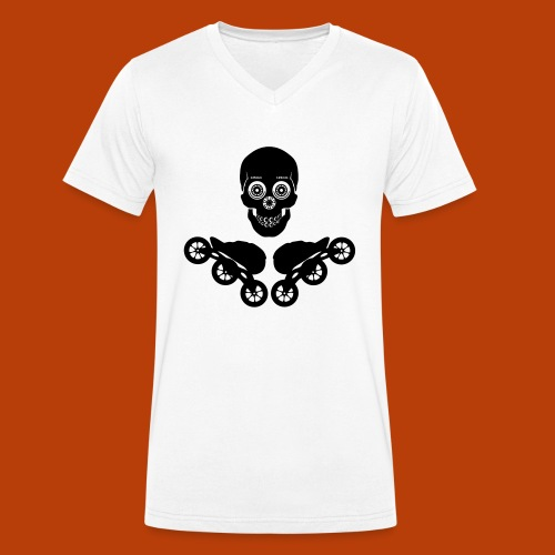 Skull + Skates 125mm - Männer Bio-T-Shirt mit V-Ausschnitt von Stanley & Stella