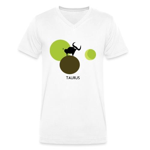 Unconventional zodiac :taurus - T-shirt ecologica da uomo con scollo a V di Stanley & Stella