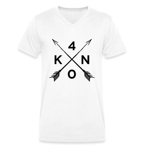 Logo_40knots_weiß - Männer Bio-T-Shirt mit V-Ausschnitt von Stanley & Stella