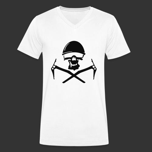 Climbing Skull - Männer Bio-T-Shirt mit V-Ausschnitt von Stanley & Stella