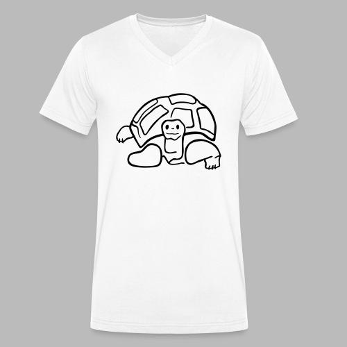 schildkröte landschildkroete aus den seychellen - Männer Bio-T-Shirt mit V-Ausschnitt von Stanley & Stella
