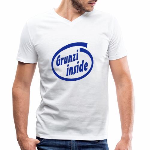 grunziinside - Männer Bio-T-Shirt mit V-Ausschnitt von Stanley & Stella
