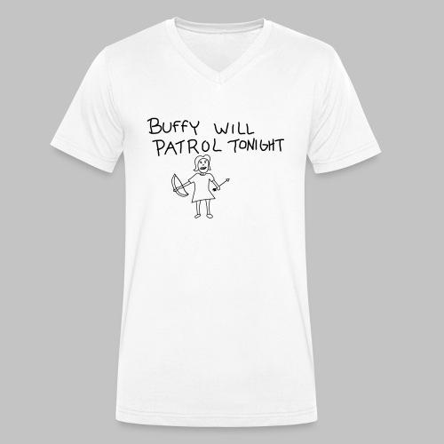 buffy's patrol - Men's Organic V-Neck T-Shirt by Stanley & Stella
