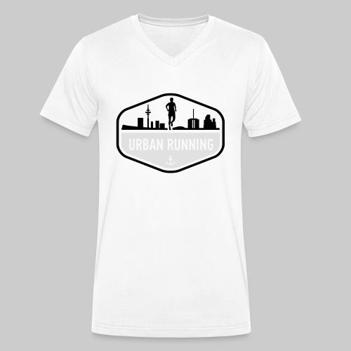 UrbanRunningLogo - Männer Bio-T-Shirt mit V-Ausschnitt von Stanley & Stella