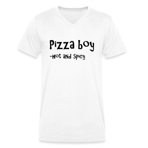 Pizza boy - Økologisk T-skjorte med V-hals for menn fra Stanley & Stella