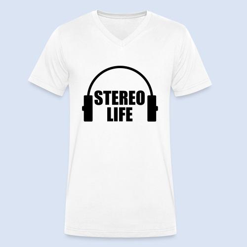 STEREO LIFE - Männer Bio-T-Shirt mit V-Ausschnitt von Stanley & Stella