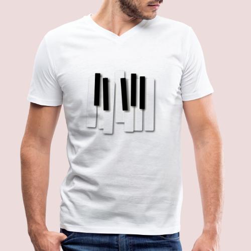 Klaviatur - Ekologisk T-shirt med V-ringning herr från Stanley & Stella