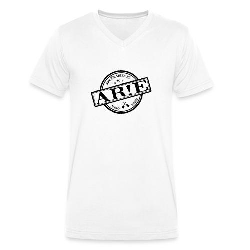 Backdrop AR E stempel zwart gif - Mannen bio T-shirt met V-hals van Stanley & Stella