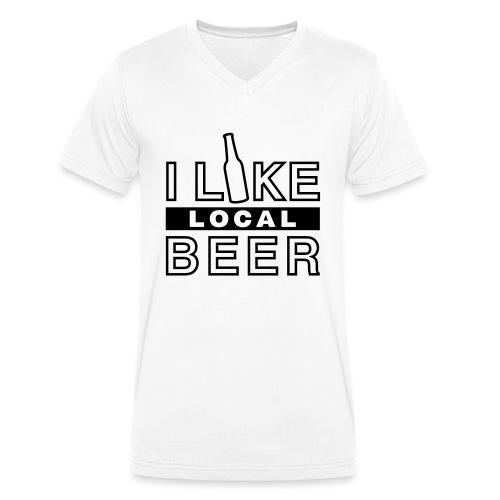 I Like Local Beer (swity) - Männer Bio-T-Shirt mit V-Ausschnitt von Stanley & Stella