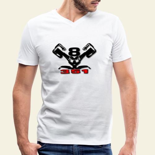 351 v8 - Økologisk Stanley & Stella T-shirt med V-udskæring til herrer