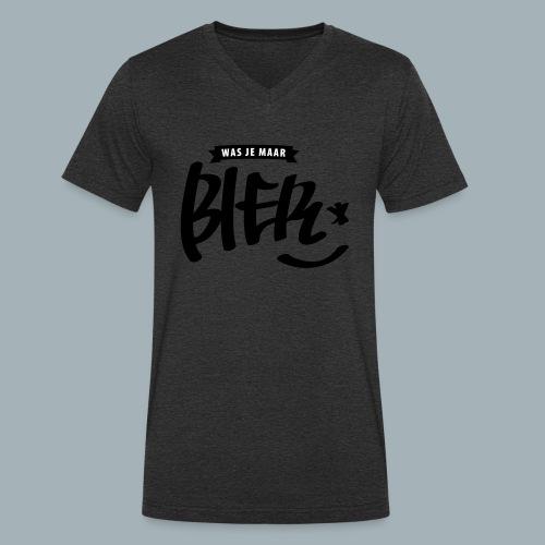 Bier Premium T-shirt - Mannen bio T-shirt met V-hals van Stanley & Stella