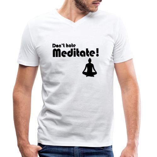 Meditate Woman - Männer Bio-T-Shirt mit V-Ausschnitt von Stanley & Stella