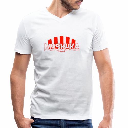 Muskoka - Mannen bio T-shirt met V-hals van Stanley & Stella