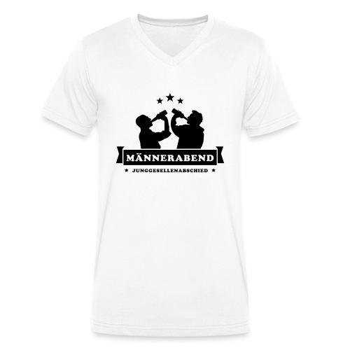 maennerabend - Männer Bio-T-Shirt mit V-Ausschnitt von Stanley & Stella